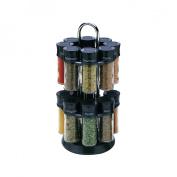 Olde Thompson 16 Jar Spice Rack - Black