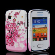 Flower Pattern Hard Rubber Back Case Cover For Samsung S5300 Galaxy Pocket
