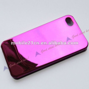 Hot&popular  Chrome Rose Metal Thin Hard Case For Apple Iphone 4 4g