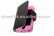 Black Pink Leather Wallet Case For Ipod Touch 1g 2g 3g