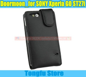 Free Shippng By China Post Air Mail,doormoon Leather Case For Sony Xperia Go St27i Advance