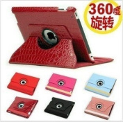 Magnetic Smart Cover Leather Case For Ipad 2 3 With 360 Degrees Rotating Stand, For Ipad 3 Crocodile Pu Leather Case