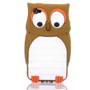 Support Wholesale&retail New Cute Owl Design Silicone Back Case Cover Skin For Apple Iphone 4 4g 4s