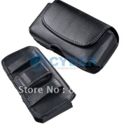 New Black Belt Clip Magnetic Pu Leather Case Pouch Cover For Iphone 4s