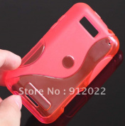 Pink S Line Wave Soft Tpu Gel Skin Cover Case For Motorola Defy Mb525