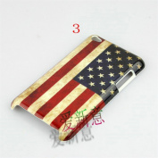For Ipod Touch 4 Hard Case With Us Uk National Flag Case