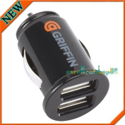Black Griffin 2 Dual Usb Car Charger Powerjolt For Iphone Ipad 1 2