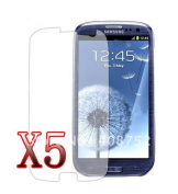 5x Ultra Crystal Clear Screen Protector For Samsung Galaxy S 3 I9300 Iii