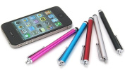 Capacitive Screen Touch Pen Metal Stylus For Iphone Ipad Samsung Galaxy Cell Phone And Tablet, With Clip, Silver,