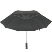 Homebasix TF-02 Rain Umbrella Compact 21 Inch Black