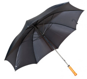 Elite Rain Classic Black Doorman Umbrella with Straight Handle