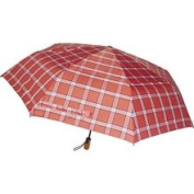London Fog Oversized Auto Open/Close Umbrella Red Plaid