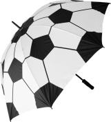 Soccer Football on Fire Custom Umbrella Compact Folding Travel Umbrella