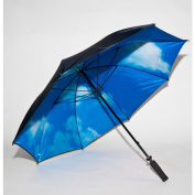 Elite Rain Umbrella Manual-Open Fibreglass Golf Umbrella - Sky