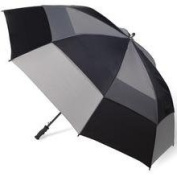 Totes 8058596 Vented Canopy Auto-Open Golf Stick Umbrella Black