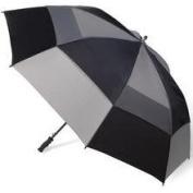Totes 8058596 Vented Canopy Auto-Open Golf Stick Umbrella Black