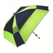 WindPro Gellas Auto Open Vented Square Golf Umbrella - Alternating Panels
