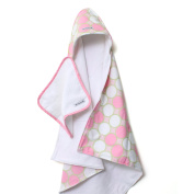 Baby Star Hooded Towel Set in Tag Pink