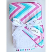 Caden Lane Ikat Chevron Hooded Towel Set Colour