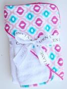 Caden Lane Ikat Mod Hooded Towel Set Colour