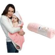 Cuddledry Baby Apron Bath Towel - Pink/White