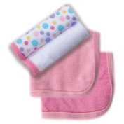 Luvable Friends 4 Pack Washcloths, Pink