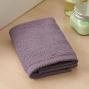Home Source 10102WAV75 100 Percent Cotton Wash Cloth - Eggplant