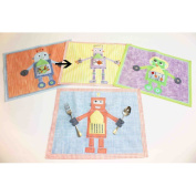 Little Acorn S11T09 Purple robot placemat