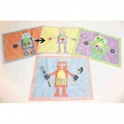 Little Acorn S11T09 Purple robot placemat