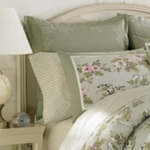 Laura Ashley Avery Euro Sham Pillow Sage Green Free Delivery Ebay