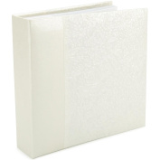 Embossed Book Bound Photo Album 22cm x 24cm -Gardenia - Pearl