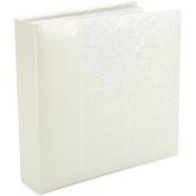 Embossed Book Bound Photo Album 22cm x 24cm -Gardenia - Pearl