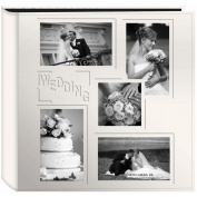 Sewn Embossed Collage Frame 5-Up Photo Album 30cm x 30cm -Wedding