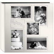 Sewn Embossed Collage Frame 5-Up Photo Album 30cm x 30cm -Wedding