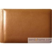Raika RM 136 Tan 4 x 6 Single Page Mini Photo Album - Tan