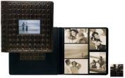 Raika Ni 113-D Blk Frame Front Scrap Book Album - Black