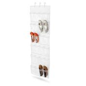 Honey-Can-Do SFT-01278 24 Pocket Over-Door Shoe Organizer - Polyester - Navy