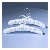 Lillian Rose 24HA830 B Blue Baby Clothes Hangers - Set of 2