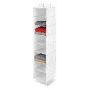 Honey-Can-Do Closet Organisation 8-Shelf Hanging White Polyester Organiser SFT-01239