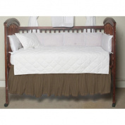 BELLACOR DRCW379A Olive Green Tan Stripes Fabric Dust Ruffle Crib