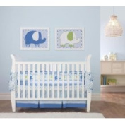 Triboro Elephants Crib Skirt