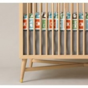DwellStudio Solid Grey Crib Skirt