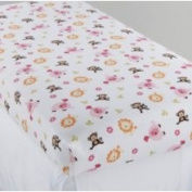 Little Bedding by NoJo Newborn Girl's Raspberry Jungle Fitted Crib