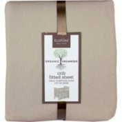 Kushies Organic Jersey Fitted Crib Sheet in Mocha