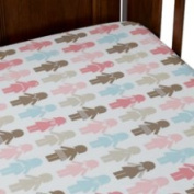 Dwell Studio Paper Dolls Petal Fitted Crib Sheet