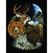 Multi Animal Fleece Throw Blanket