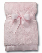 Bearington Collection Baby Girl Silky Soft Crib Blanket Pink