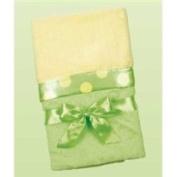 Bearington Collection Baby Silky Soft Crib Blanket Limeade