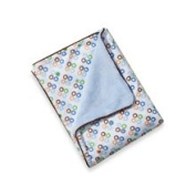 Caden Lane Boy Star Dot Blanket with Piped Edging