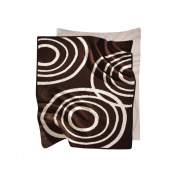 Nook Sleep Knitted Blanket with Ripple in Bark